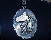 Horse pendant handcrafted...