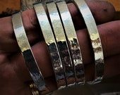 Sterling silver cuff bang...