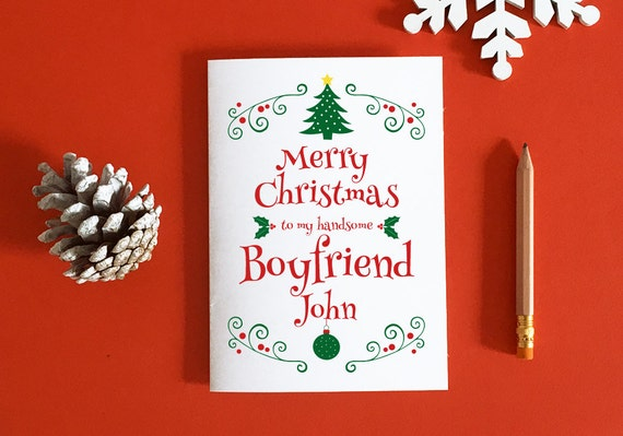 Boyfriend Christmas Card Gift For Boyfriend Romantic Etsy