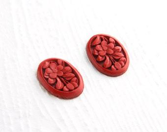 Top Quality Natural Cinnabar Gemstone Cabochon Cinnabar Cinnabar Jewelry Cinnabar Cabochons Gemstones 27.10 Cts 30x22x6 MM AM 4989