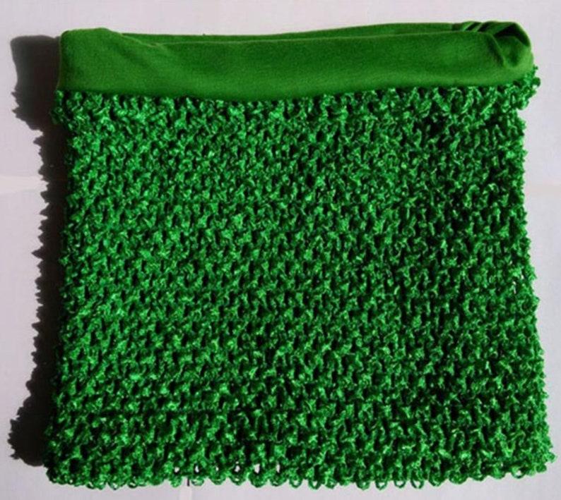 Green Lined Crochet Tutu Top Tube Tops Dress Top Tutu Etsy