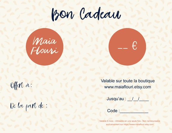 Gift certificate - Available in Maia Flouri's shop only