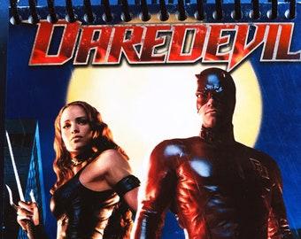 4X6 Sketchbook + bookmark   Made from Upcycled VHS Movie Box   2003, Daredevil, Ben Affleck, Superhero   Notebook, Bullet Journal