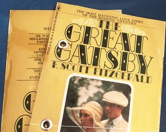 4X6 Refillable Index Card Binder | F. Scott Fitzgerald, The Great Gatsby | Bullet Journal, Notebook, Upcycled Book | Book Lover, Literary