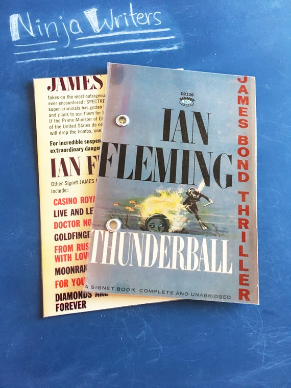 4X6 Refillable Index Card Binder | Made from Thunderball, Upcycled James  Bond Paperback by Ian Fleming | Bullet Journal, Notebook