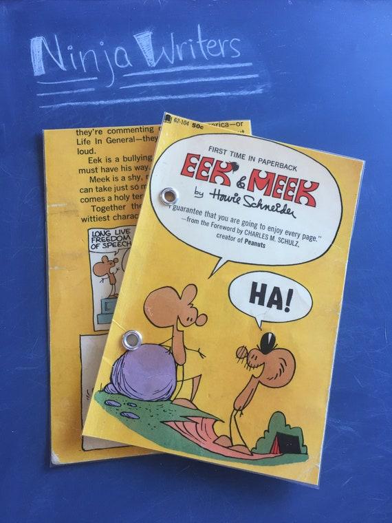 4x6 index card binder 1969 eek meek howie schneider etsy