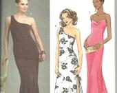 Butterick B4730 UNCUT Sewing Pattern * Women's One Shoulder Dress* Flounce Dress * A-line Dress * Sizes 6, 8, 10 & 12