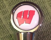 Bucky Badger Wine Stopper, Can customize for your favorite team. Perfect gift for the sports fan on your list!