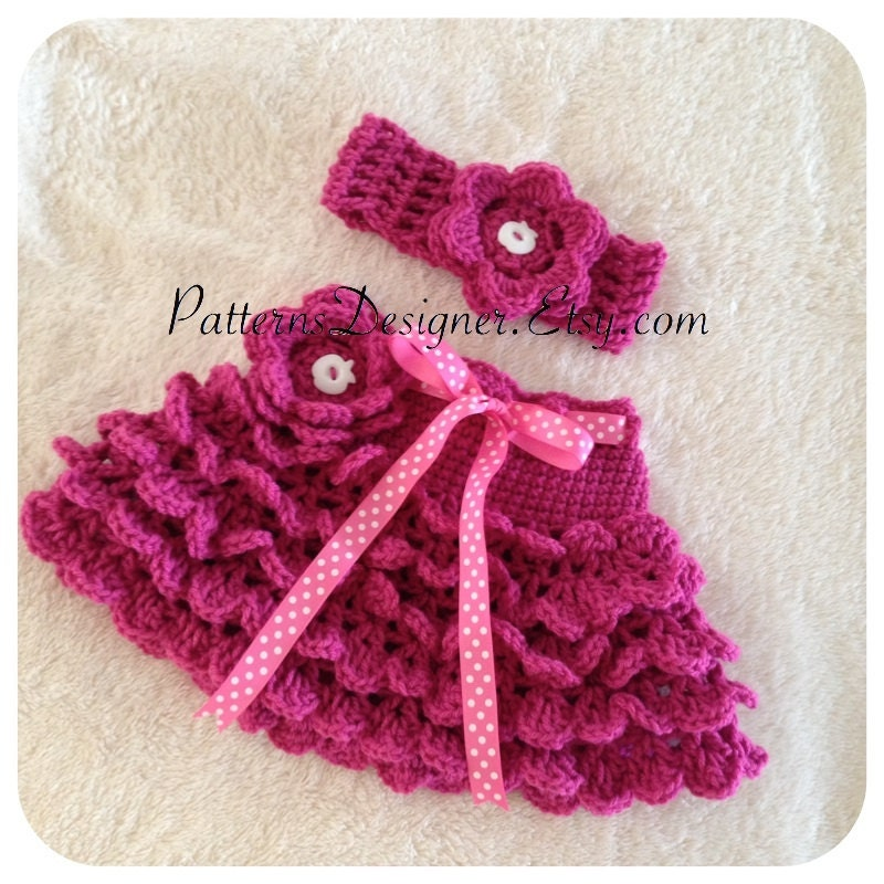 Pt103 2 Patterns 0 5t Crochet Baby Ruffle Skirt Crochet Etsy