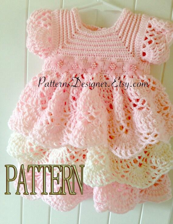 Pt014 3 12 Months Crochet Baby Layers Dress Baby Dress Etsy