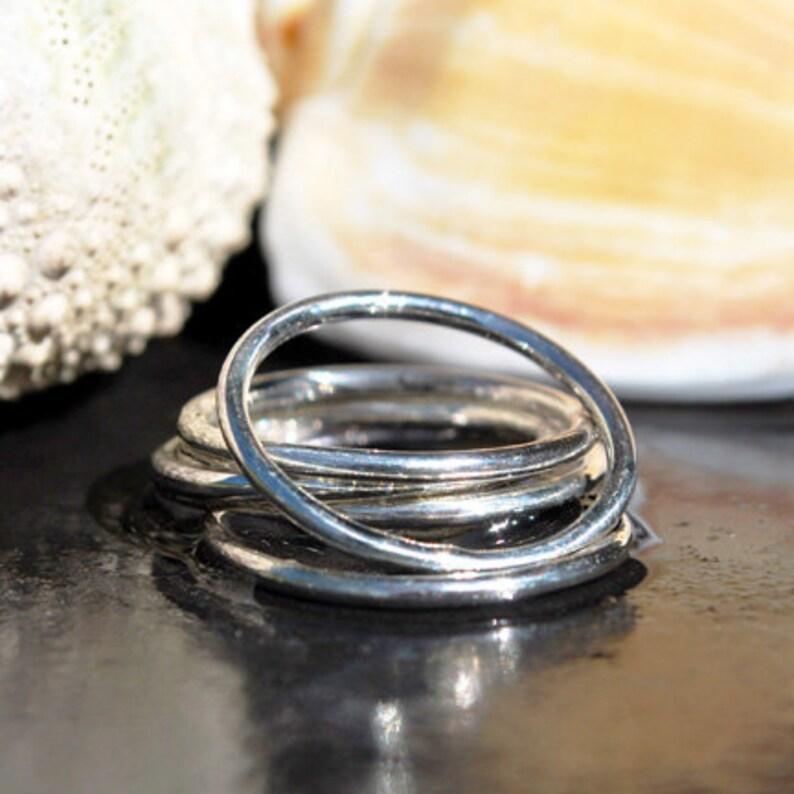 Round Silver Stack Ring Silver Stacking Ring Dainty Silver Ring Silver Stackable Ring Durable Silver Band Boho Ring