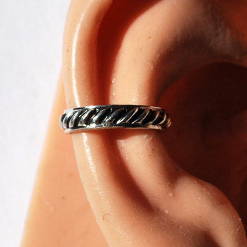 Non Pierced Fake Conch Ear Cuff Sterling Silver Ear Cuff Faux Conch Cuff Ear Wrap Conch Cuff Ear Cuff Ear Band