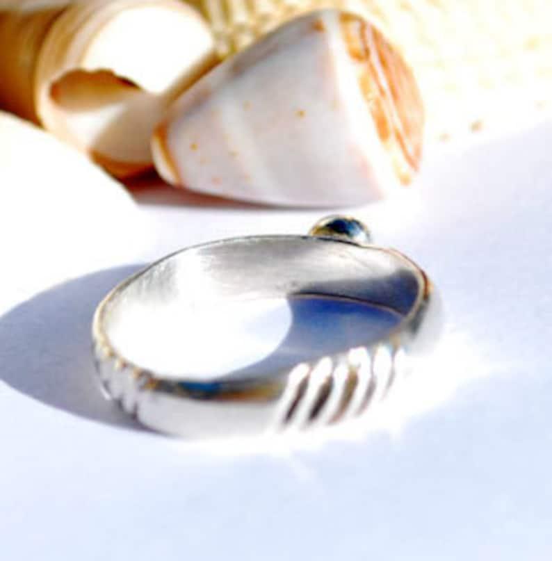 Petite Ring December Birthstone Lapis Jewelry Size 8 Ring Lapis Lazuli Ring Sterling Silver Ring Lapis Ring Stacking Ring