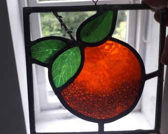 Vase of Fruit Dollhouse Miniature Victorian Style Stained Glass Window film