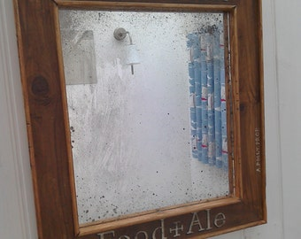 Distressed mirror, 'Potwell Inn'