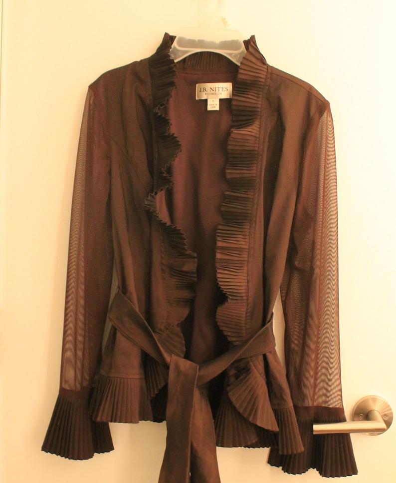 Size 6 Carolin Lin Wrap Jacket