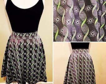 Grey and Green DNA Science Nerd Geek Skirt