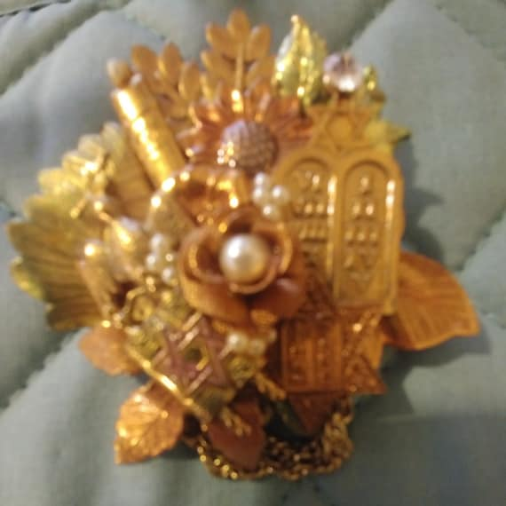 Brooch - Collage Brooch - Vintage - Free Shipping