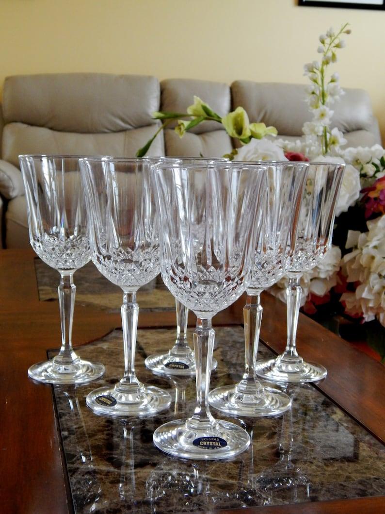 Lead Crystal Set of 6 Wine Glass