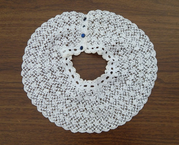 Antique Lace Collar, Exquisite White Handmade Lac… - image 3