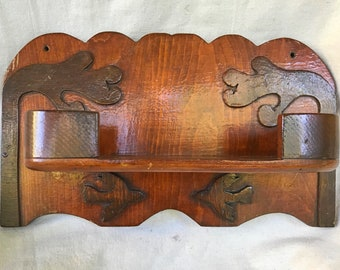 Vintage Handmade Tramp Art Shelf