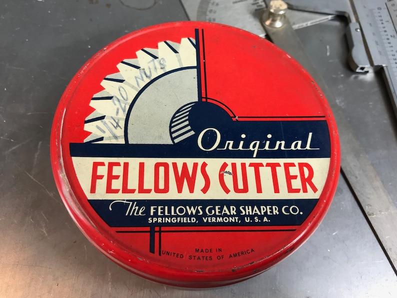Vintage Fellows Gear Shaper Industrial Tin