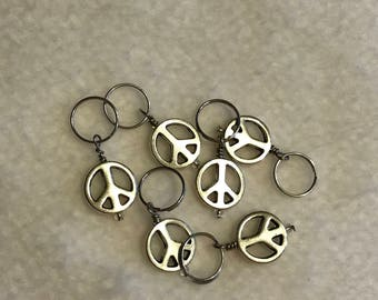 Peace Sign Stitch Markers - Set of 6