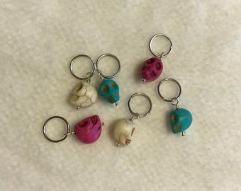 Skull Stitch Markers - Set of 6