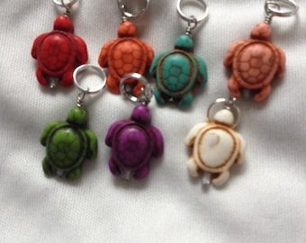 Turtle Stitch Markers - Set of 7