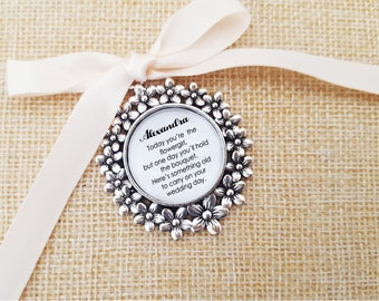 Bridal Party- Bridesmaid Flowergirl charm gift bouquet charm- Something old - Keychain or Bouquet charm