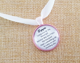 Bridal Party- Bridesmaid Flowergirl charm gift bouquet charm- Something old
