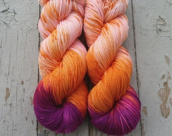Sock Yarn, Hand Dyed, Speckled, Superwash Merino Nylon Fingering Weight 100 g, Staple Sock - Stolen Dance *In Stock