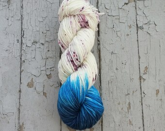 Worsted Weight Yarn, Hand Dyed, Speckled, Superwash Merino, Hand Dyed Yarn 100 g/218 yds, Worsted Yarn- Unsteady *In Stock