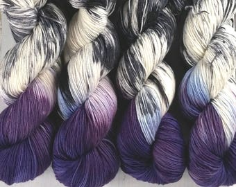 Speckled Sock Yarn Superwash Merino Nylon Fingering Weight Hand Dyed 100 g - Royals *In Stock