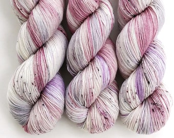 Sock Yarn, Hand Dyed, Speckled, Superwash Merino Nylon Fingering Weight 100 g, Staple Sock - Unicorn Farts *In Stock