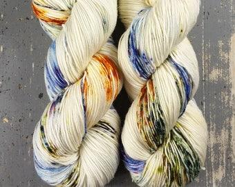 Sock Yarn, Hand Dyed, Speckled, Superwash Merino Nylon Fingering Weight 100 g, Staple Sock - Harvest Moon *In Stock