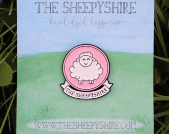 Enamel Pin - The Sheepyshire 1 Inch Logo Pin