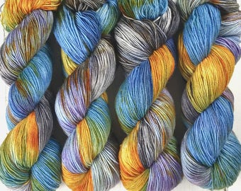 Sock Yarn, BFL Nylon, Hand Dyed Yarn, Speckled, Fingering Weight,  BFL Staple Sock 100 g / 460 Yards - Rusty Fender *In Stock