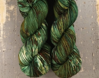 Speckled Sock Yarn Superwash Merino Nylon Fingering Weight Hand Dyed 100 g - Gareth *In Stock