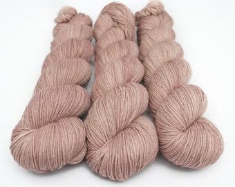 Semi Solid Sock Yarn, Hand Dyed, Superwash Merino Nylon Fingering Weight 100 g, Staple Sock  - Sabulous *In Stock