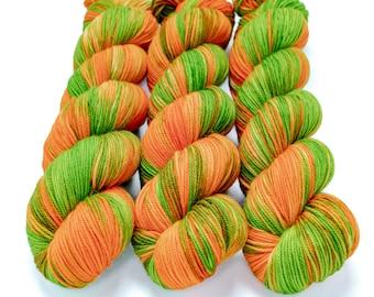 Sport Weight Yarn, Hand Dyed, Variegated, Superwash Merino, 100 g 325 yds, Super Squishy Sport Superwash - Tree Frog *In Stock