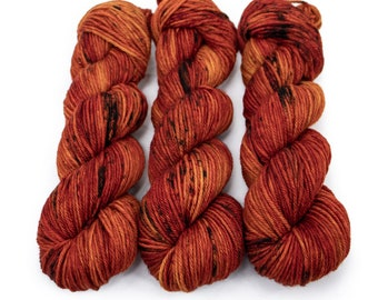 Worsted Weight Yarn, Hand Dyed, Speckled, Superwash Merino, Hand Dyed Yarn 100 g/218 yds, Worsted Yarn- Wildflower 2019 *In Stock
