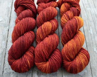 Worsted Weight Yarn, Hand Dyed, Speckled, Superwash Merino, Hand Dyed Yarn 100 g/218 yds, Worsted Yarn- Little Lion *In Stock