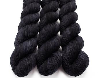 Sport Weight Yarn, Hand Dyed, Tonal Yarn, Semi Solid, Superwash Merino, 100 g 325 yds, Super Squishy Sport Superwash- Lights Out *In Stock