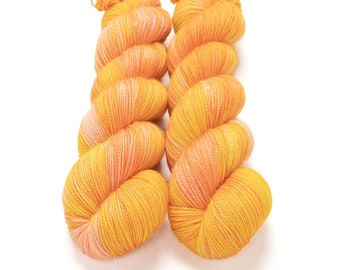 Sparkle Sock Yarn, Hand Dyed Yarn, Superwash Merino Nylon, Fingering Weight, Pixie Sock 100 g / 438 yds - Slice of Life *In Stock