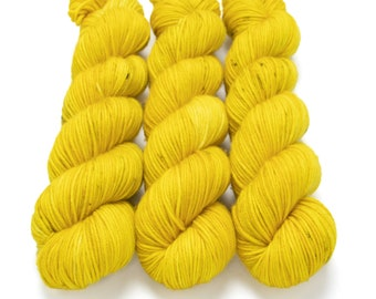 MCN DK Yarn, Speckled Hand Dyed, Superwash Merino Cashmere Nylon, Double Knitting, Bliss MCN dk, 100g 231 yds - Sunflower *In Stock
