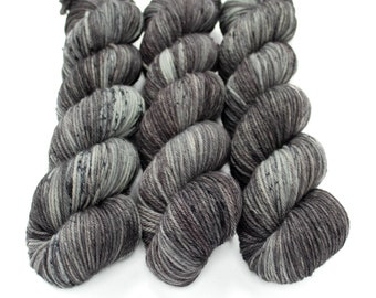 Worsted Weight Yarn, Hand Dyed, Speckled, Superwash Merino, Hand Dyed Yarn 100 g/218 yds, Worsted Yarn- Rolling Stone *In Stock