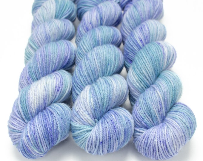 Featured listing image: MCN DK Yarn, Hand Dyed, Superwash Merino Cashmere Nylon, Double Knitting Weight, Bliss MCN dk, 100g 231 yds - Hydrangea *InStock