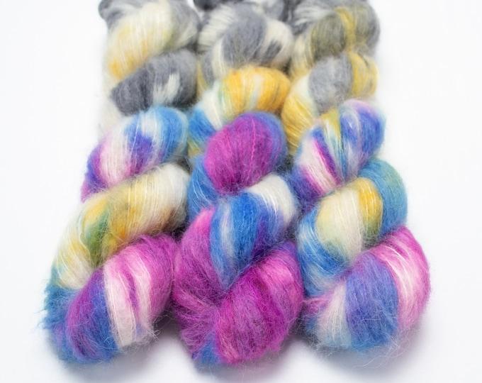 Featured listing image: Suri Alpaca Silk Yarn, Hand Dyed, Alpaca Silk Lace Weight, Brushed Alpaca 50 g, Alpaca Floof - Dream Weaver *In Stock
