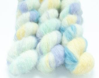 Suri Alpaca Silk Yarn, Hand Dyed Yarn, Alpaca Silk Lace Weight, Brushed Alpaca 50 g, Alpaca Floof - Opal
